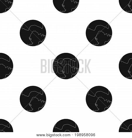 Pluto icon in black design isolated on white background. Planets symbol stock vector illustration.