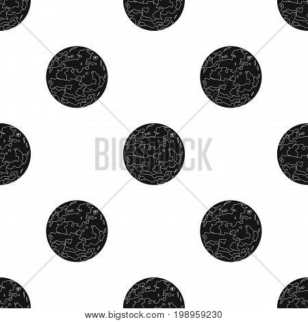 Venus icon in black design isolated on white background. Planets symbol stock vector illustration.