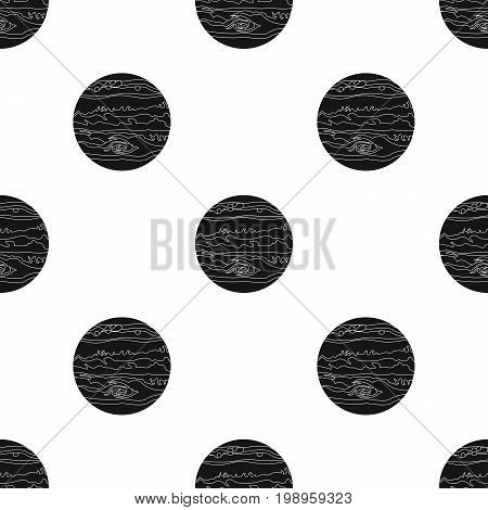 Jupiter icon in black design isolated on white background. Planets symbol stock vector illustration.