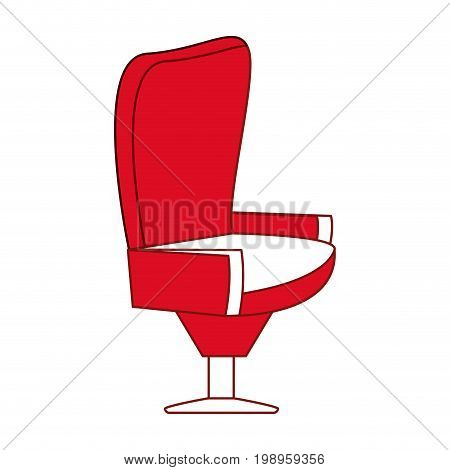 Flat line seat with hint of color over white background vector illustration