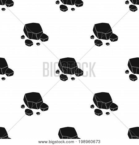 Copper ore icon in black design isolated on white background. Precious minerals and jeweler symbol stock vector illustration.