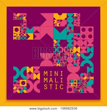 Vector minimal covers procedural design. Futuristic minimalistic layout. Conceptual generative background. Journal or book cover template. eps10