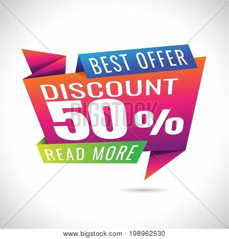 30% Discount Sale Banner Design on white background. sale. Vector