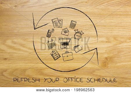 Refresh Symbol With Office Objects, Reload Your Schedule