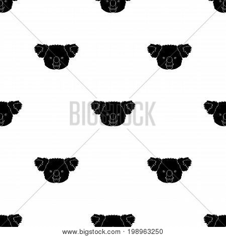 Koala icon in black design isolated on white background. Realistic animals symbol stock vector illustration.