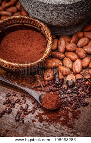 Cacao Beans And Cocoa Powde