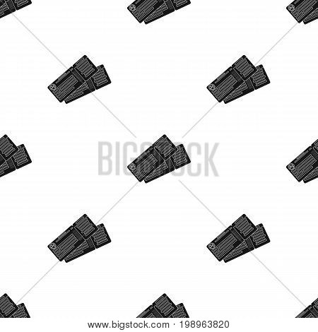 Two airline tickets icon in black design isolated on white background. Rest and travel symbol stock vector illustration.