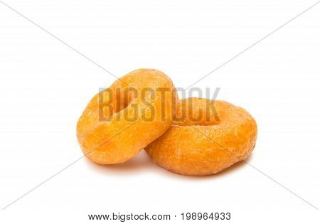 Small donuts dessert isolated on white background