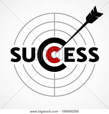 Success concept with target and arrow. Eps8. RGB. Global colors