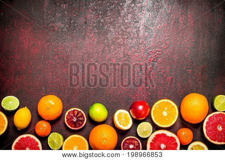 Citrus Background. Citrus Fruits .