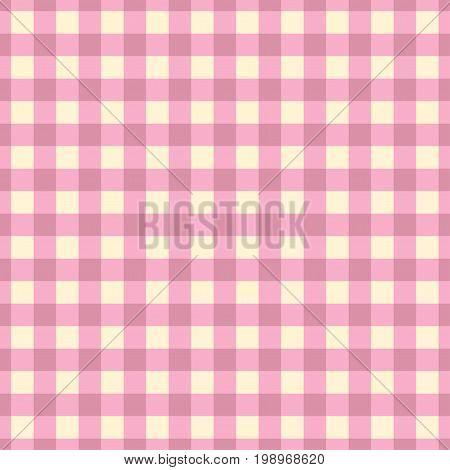 Pastel Plaid Vector. Pink plaid seamless pattern.