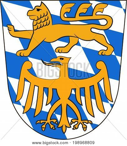 Coat of arms of Starnberg is a district in Upper Bavaria Germany. Vector illustration from the