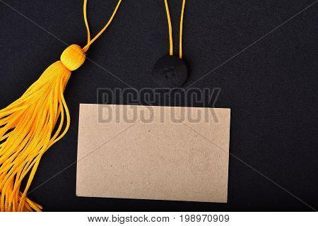 Congratulations paper cards for text university graduates