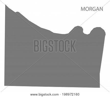 Morgan County Map Of Alabama Usa Grey Illustration Silhouette