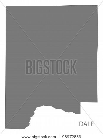 Dale County Map Of Alabama Usa Grey Illustration Silhouette