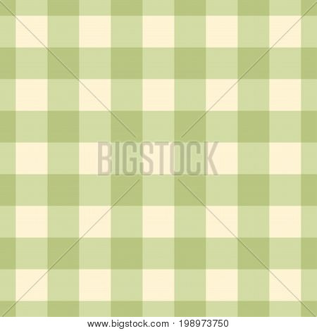 Seamless green plaid pattern. Abstract vector background.