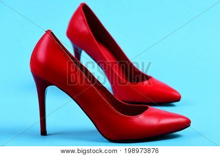 Fashion And Beauty Concept: Female Formal High Heel Footwear