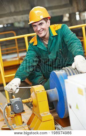 industry worker technician repairman with spanner