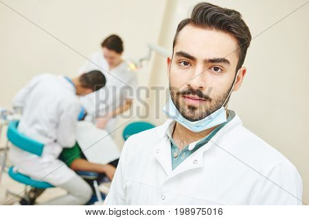 Young asian dentist doctor