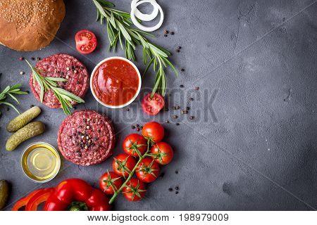 Ingredients For Making Hamburger