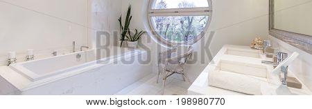 Oval Window In Bathroom