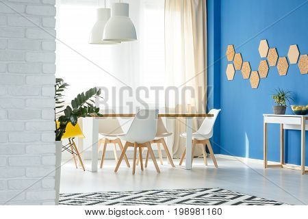 Dining Room With Natural Decor