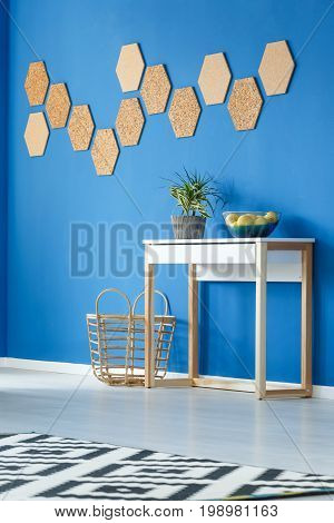 Room With Cupboard And Basket