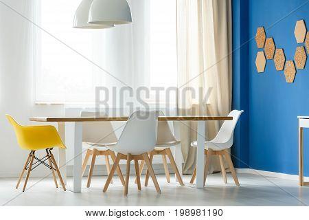 Scandinavian White And Yellow Chairs