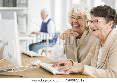Two Women With Glasses