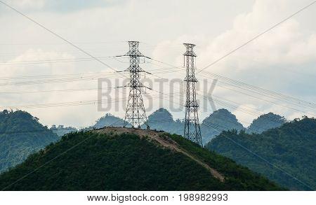 Mountain Scenery In Mai Chau, Vietnam