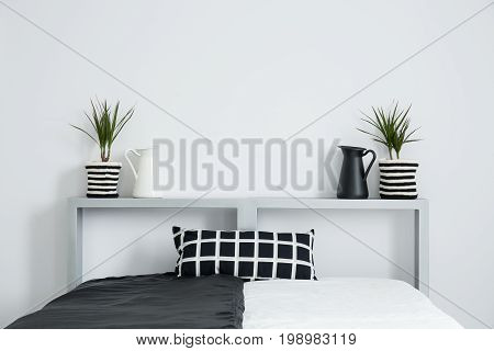 Plants Stand Symetrically On Bolster