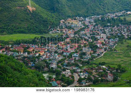 Mountain Township In Northern Vietnam