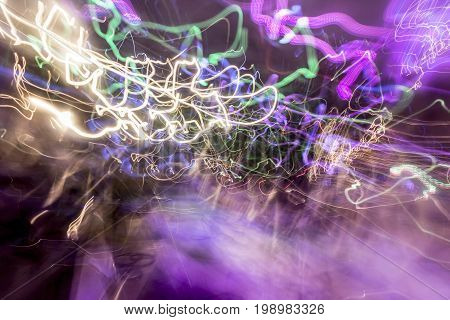 Colorful blurred fantasy or science fiction background
