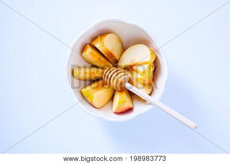 Apples, pomegranate and honey for Rosh Hashanah.