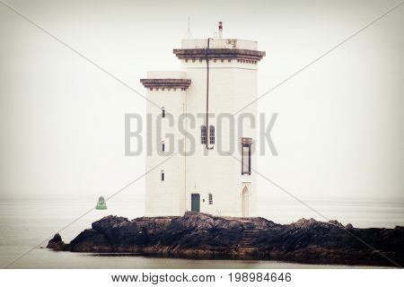 Lighthouse near Port Ellen on the Isle of Islay Scotland.