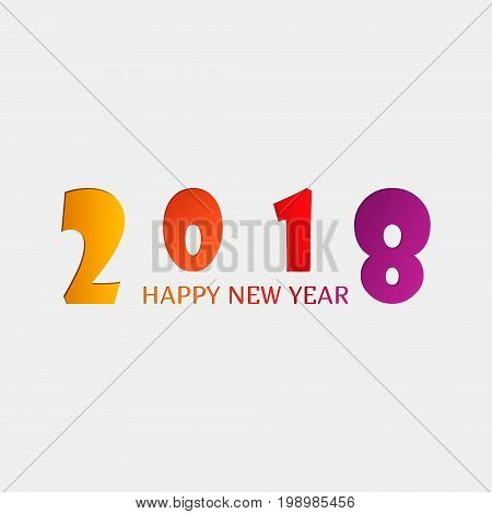 2018 Happy New Year Or Christmas Background Creative Greeting Card Design, Can Be Used For Flyers, I