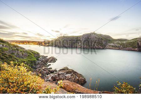 Signal Hill And Illuminated St John's, Newfoundland, Canada