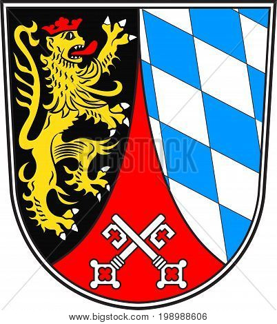 Coat of arms of Upper Palatinate is one of the seven administrative districts of Bavaria Germany located in the east of Bavaria. Vector illustration