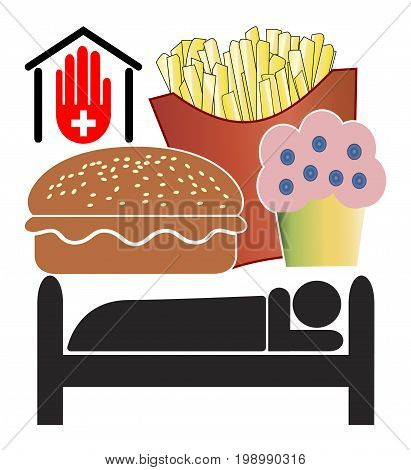 No Junk Food in Hospitals. Doctors want to ban fast food from clinics or medical centers for medical reasons