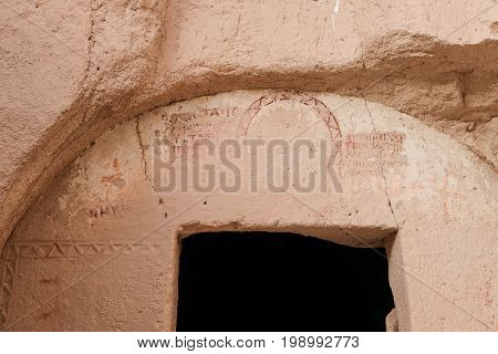 Painting In A Cave Church, Zelve Valley, Cappadocia