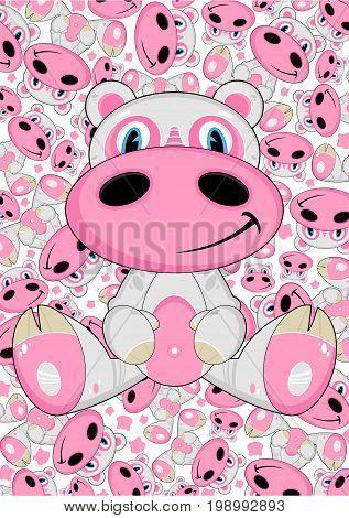 Cartoon Hippo 7