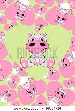 Cartoon Hippo 16
