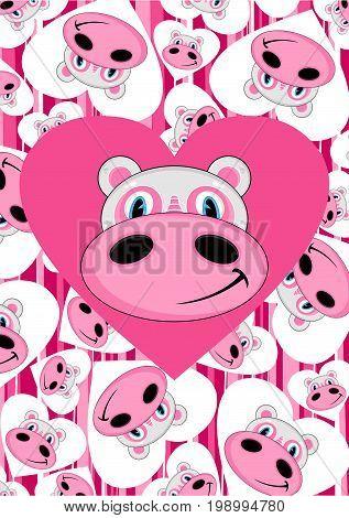 Cartoon Hippo 19