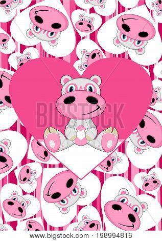 Cartoon Hippo 21