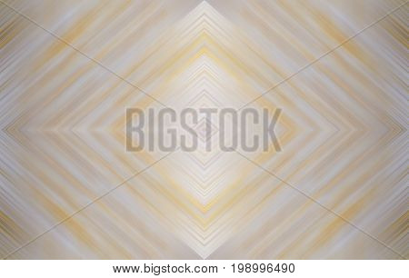 Rhombus light yellow, gray and white, wallpaper design. Abstract technology background for templates, layouts, web pages. Kaleidoscope symmetric effect with strips and geometric shapes