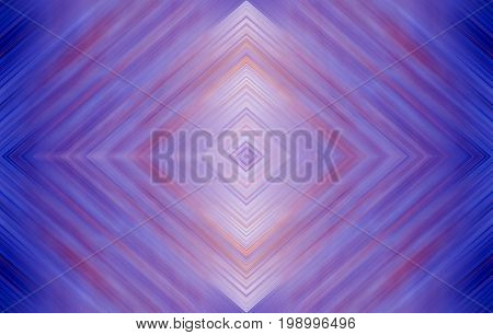 Rhombus bright blue and purple, magenta, wallpaper design.  Abstract technology background for templates, layouts, web pages. Kaleidoscope symmetric effect with strips and geometric shapes