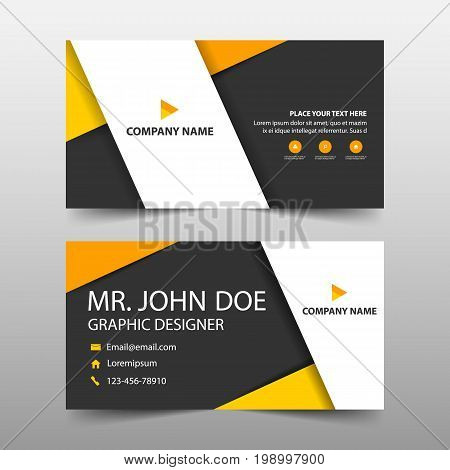 Corporate business card name card template horizontal simple clean layout design template Business banner template for website