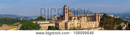Palazzo Ducale in Urbino and surroundings Marche Italy