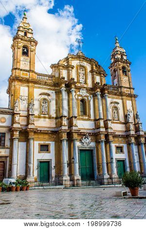 The Church of Saint Dominic. the second most important church of Palermo Italy