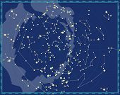 Celestial Map of The Night Sky poster